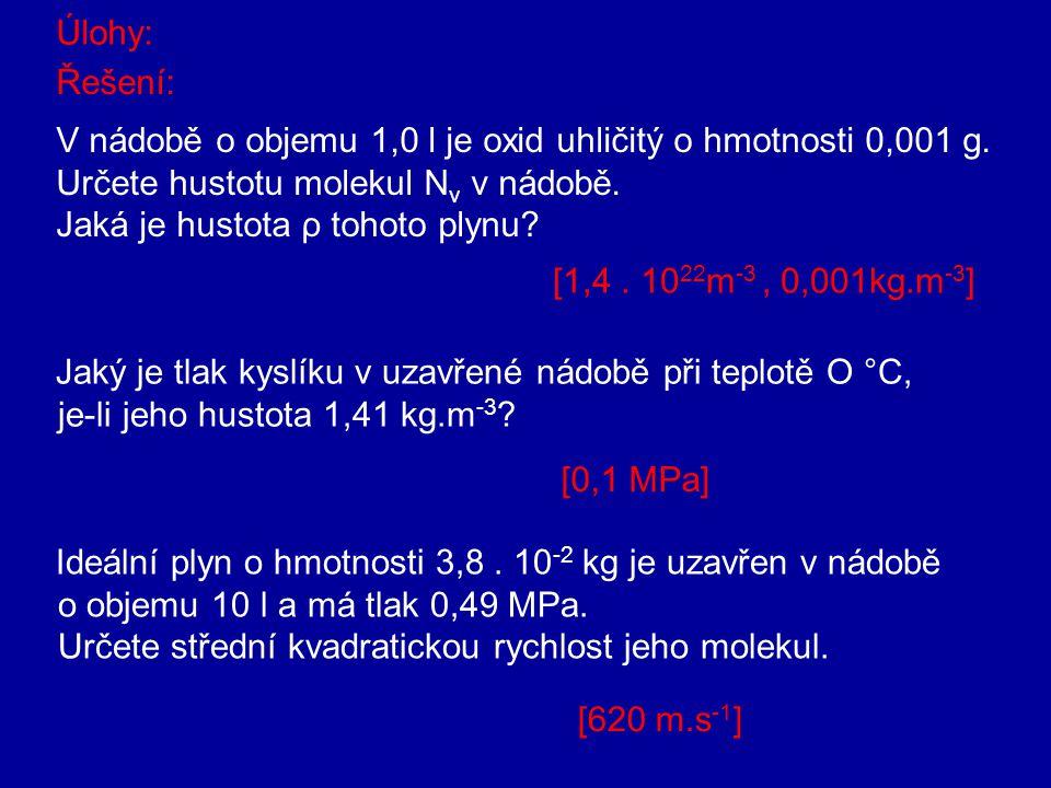 V nádobě o objemu 1,0 l je oxid uhličitý o hmotnosti 0,001 g.