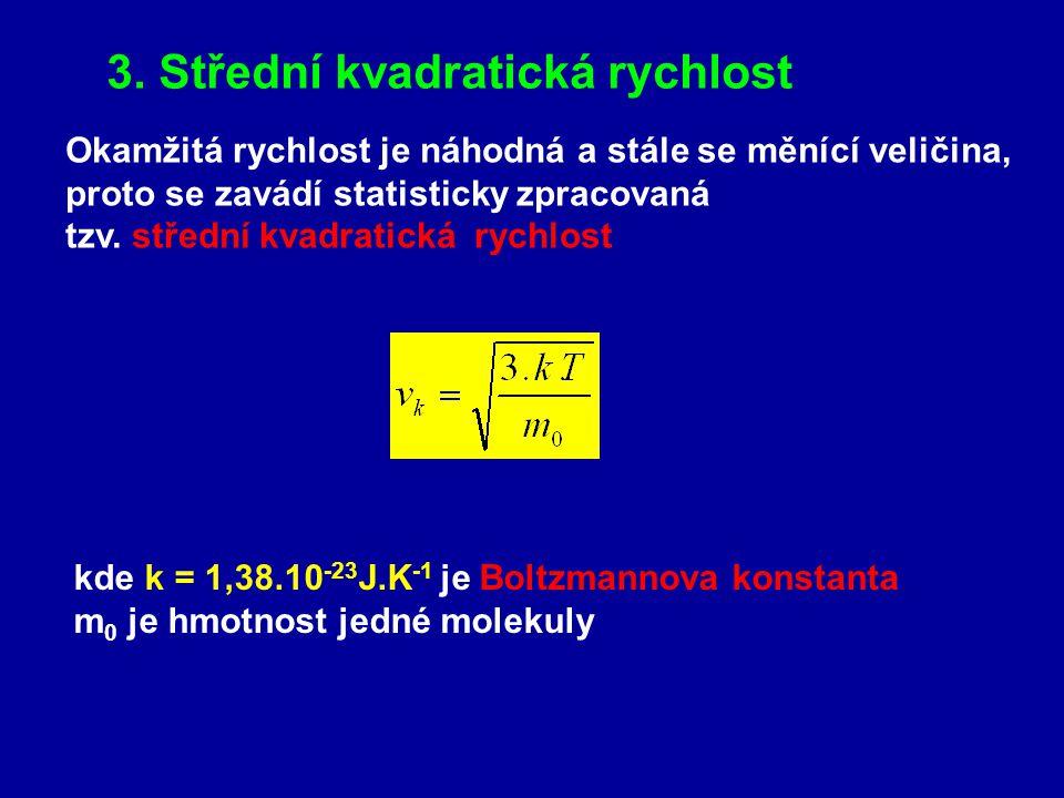 3. Střední kvadratická rychlost