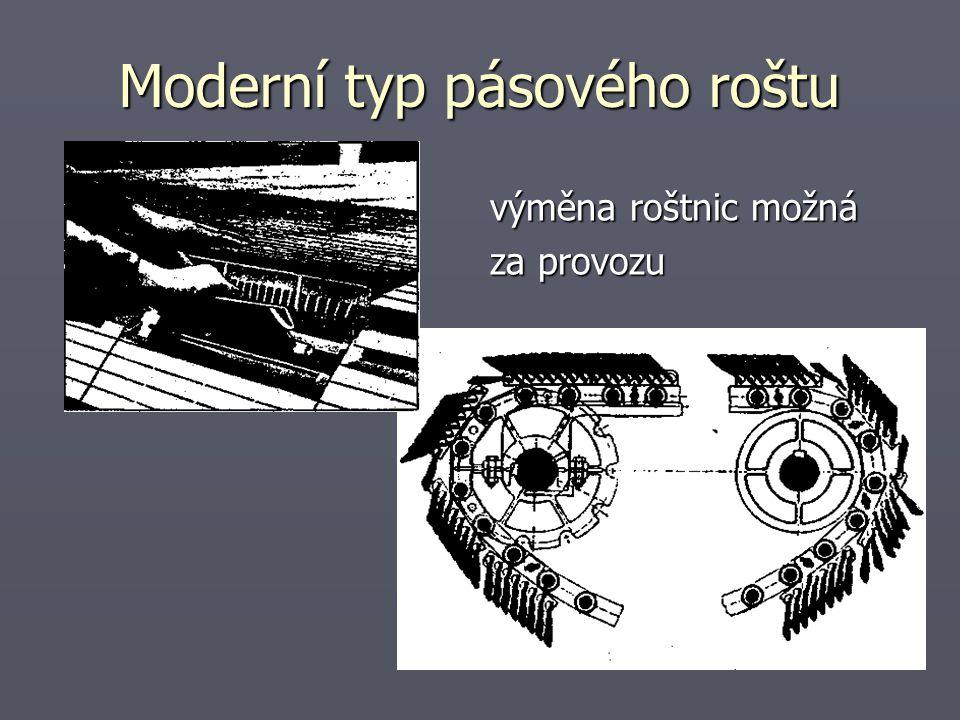 Moderní typ pásového roštu