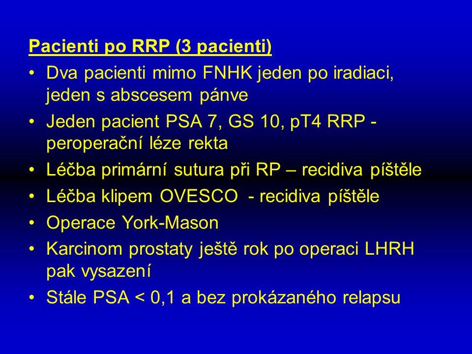 Pacienti po RRP (3 pacienti)