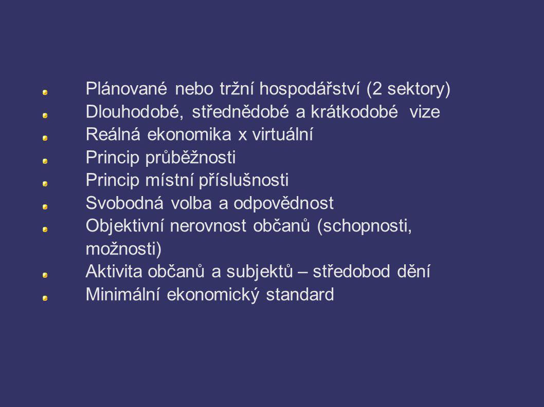 Plánované nebo tržní hospodářství (2 sektory)