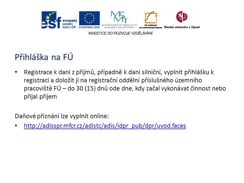 Přihláška na FÚ