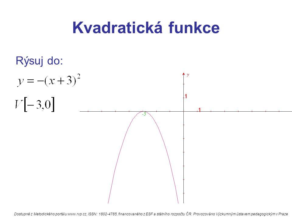 Kvadratická funkce Rýsuj do: -3