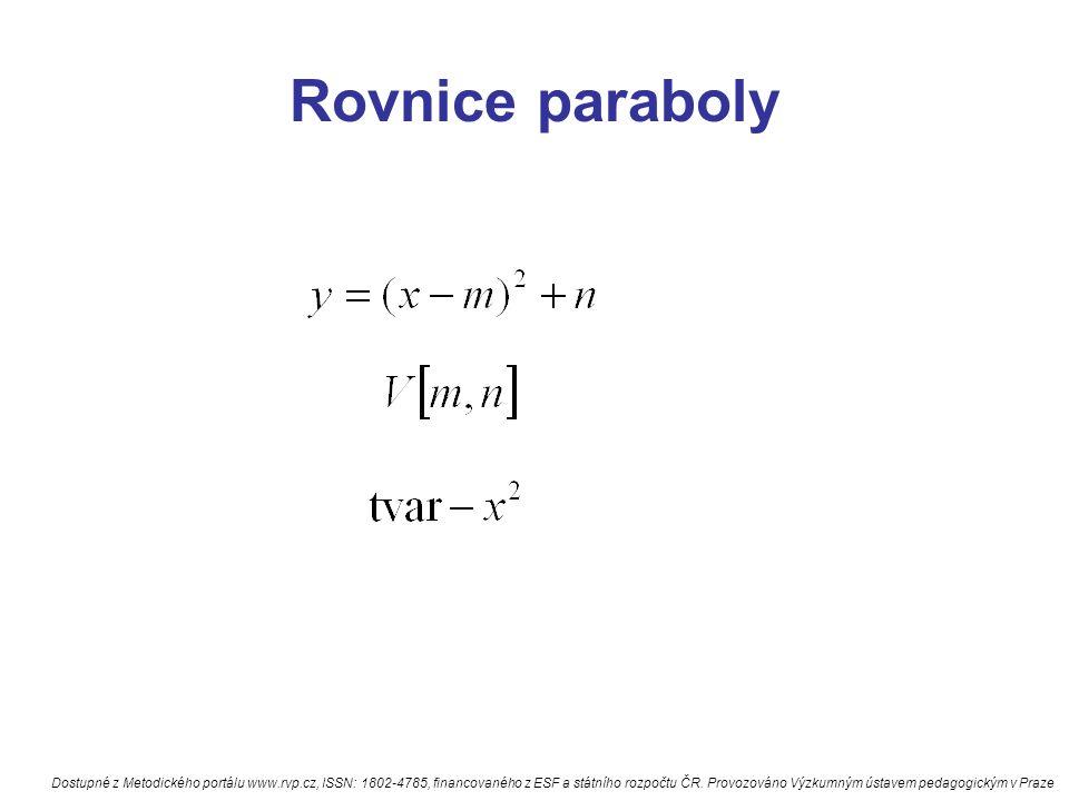 Rovnice paraboly