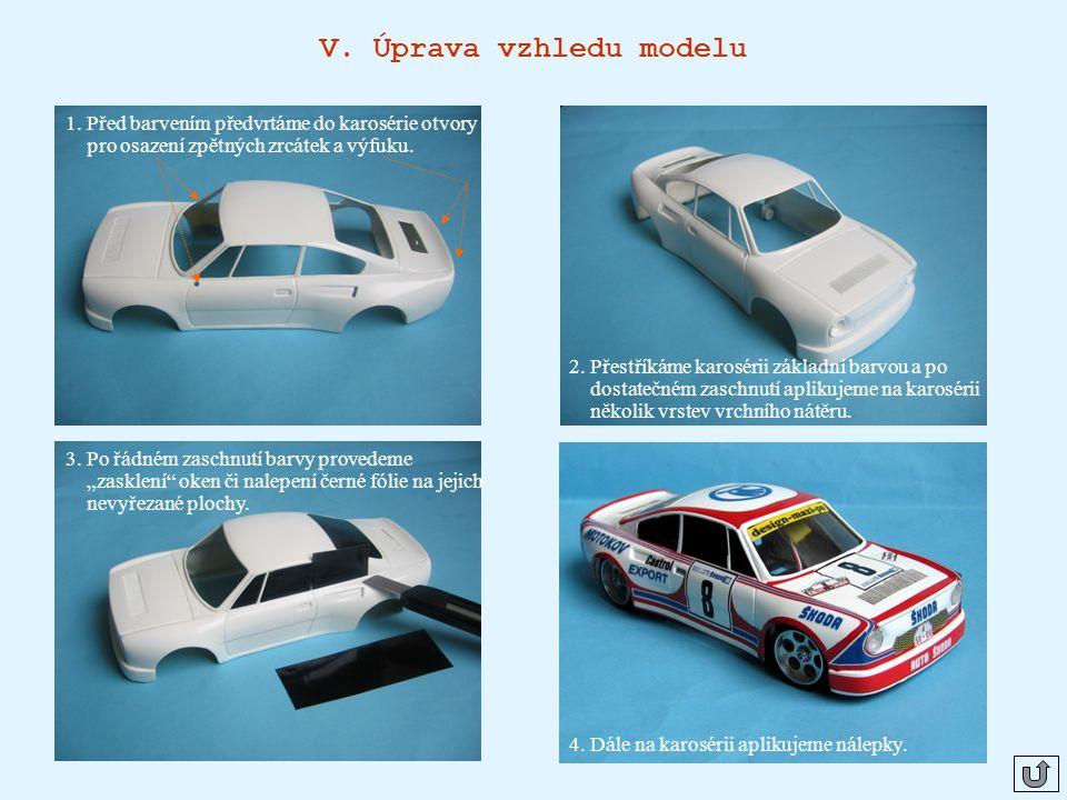 V. Úprava vzhledu modelu
