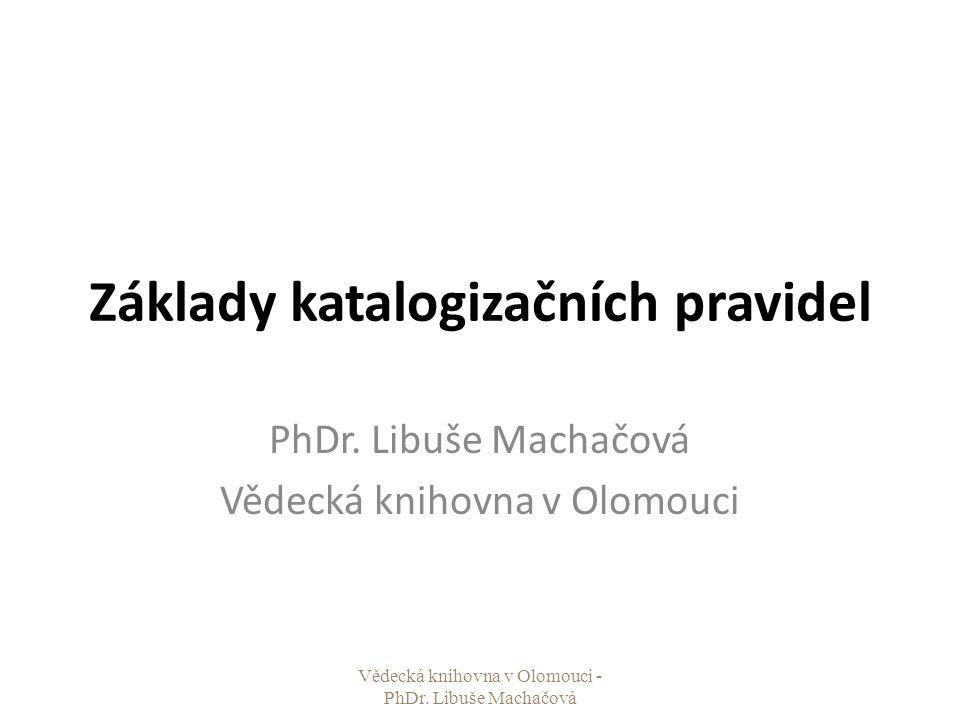 Základy katalogizačních pravidel