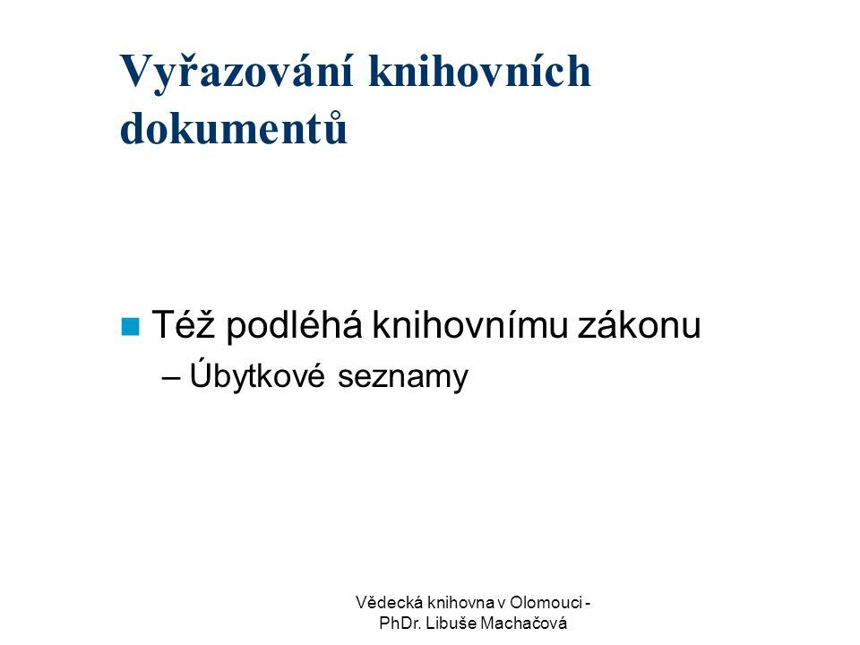 Vyřazování knihovních dokumentů
