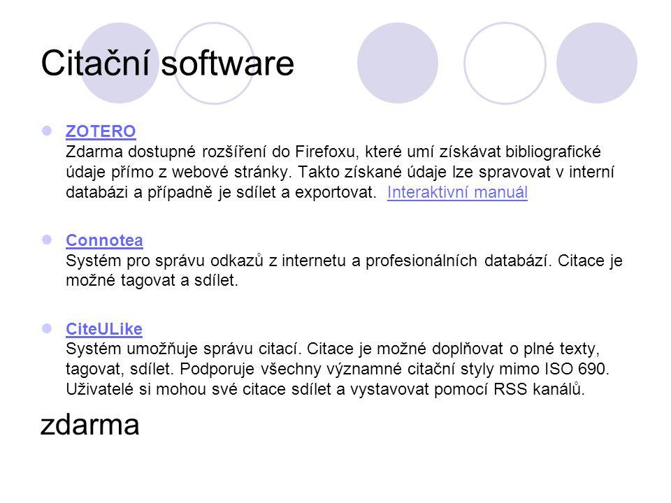 Citační software zdarma