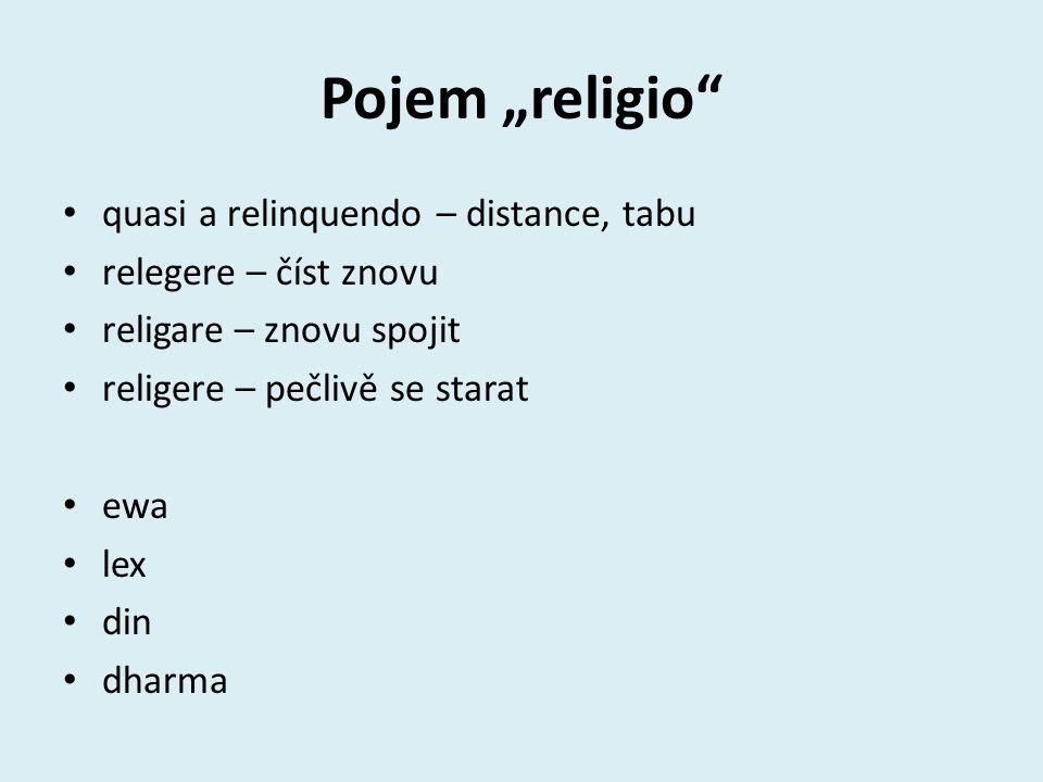 """Pojem """"religio quasi a relinquendo – distance, tabu"""