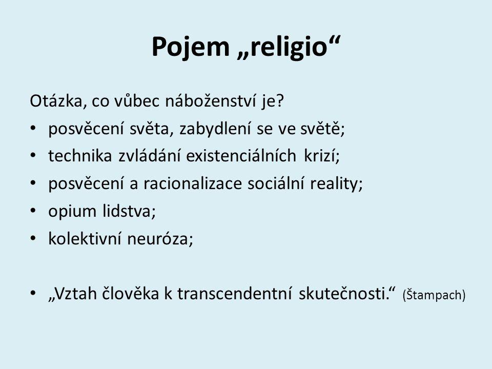 """Pojem """"religio Otázka, co vůbec náboženství je"""