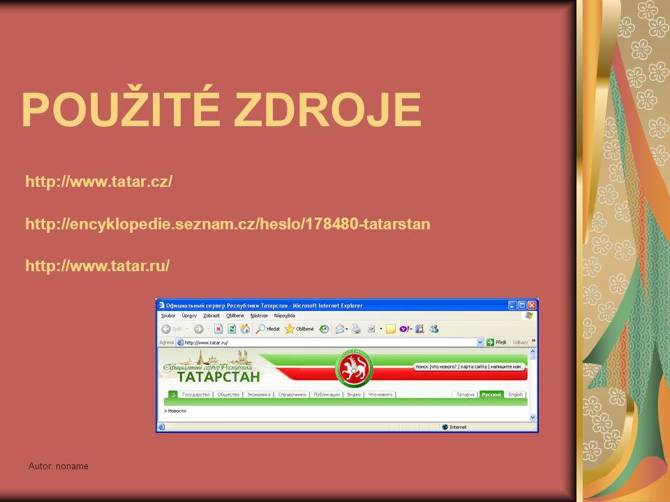 POUŽITÉ ZDROJE http://www.tatar.cz/