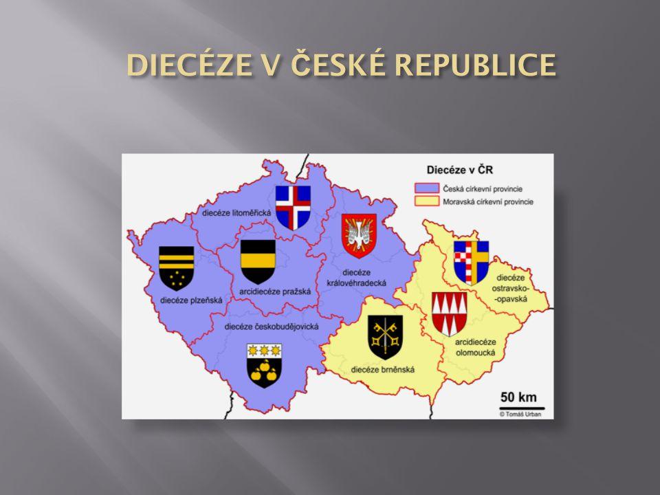 DIECÉZE V ČESKÉ REPUBLICE