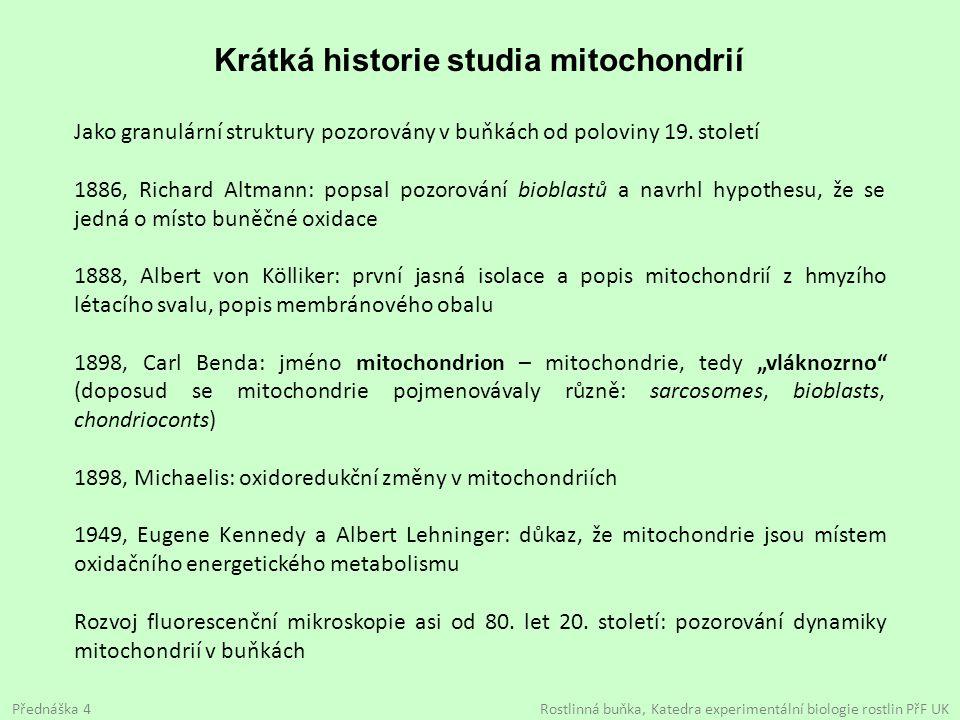 Krátká historie studia mitochondrií