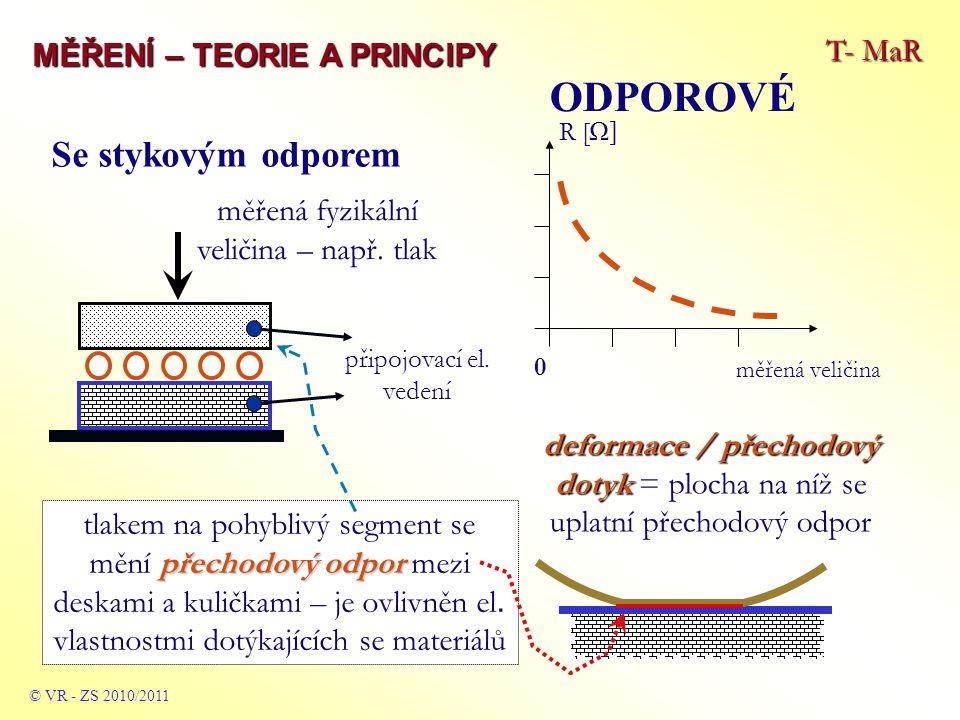měřená fyzikální veličina – např. tlak