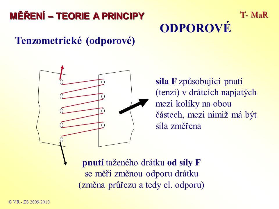 ODPOROVÉ Tenzometrické (odporové) T- MaR MĚŘENÍ – TEORIE A PRINCIPY
