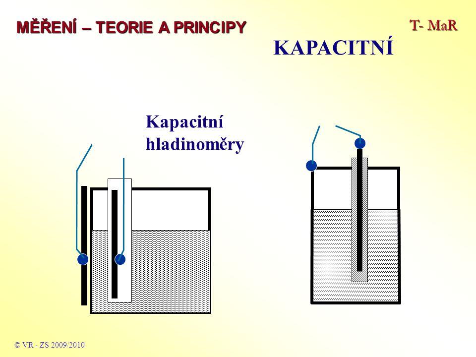 KAPACITNÍ Kapacitní hladinoměry T- MaR MĚŘENÍ – TEORIE A PRINCIPY