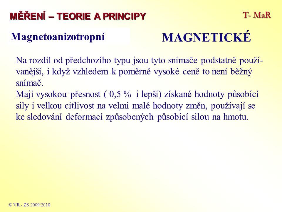 MAGNETICKÉ Magnetoanizotropní T- MaR MĚŘENÍ – TEORIE A PRINCIPY