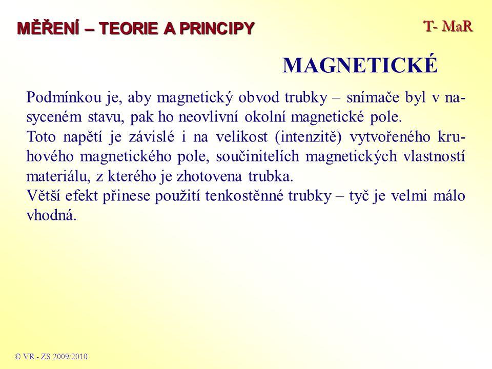 MAGNETICKÉ T- MaR MĚŘENÍ – TEORIE A PRINCIPY
