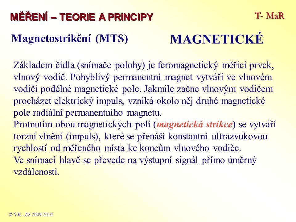 MAGNETICKÉ Magnetostrikční (MTS) T- MaR MĚŘENÍ – TEORIE A PRINCIPY