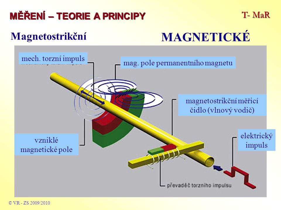 MAGNETICKÉ Magnetostrikční T- MaR MĚŘENÍ – TEORIE A PRINCIPY