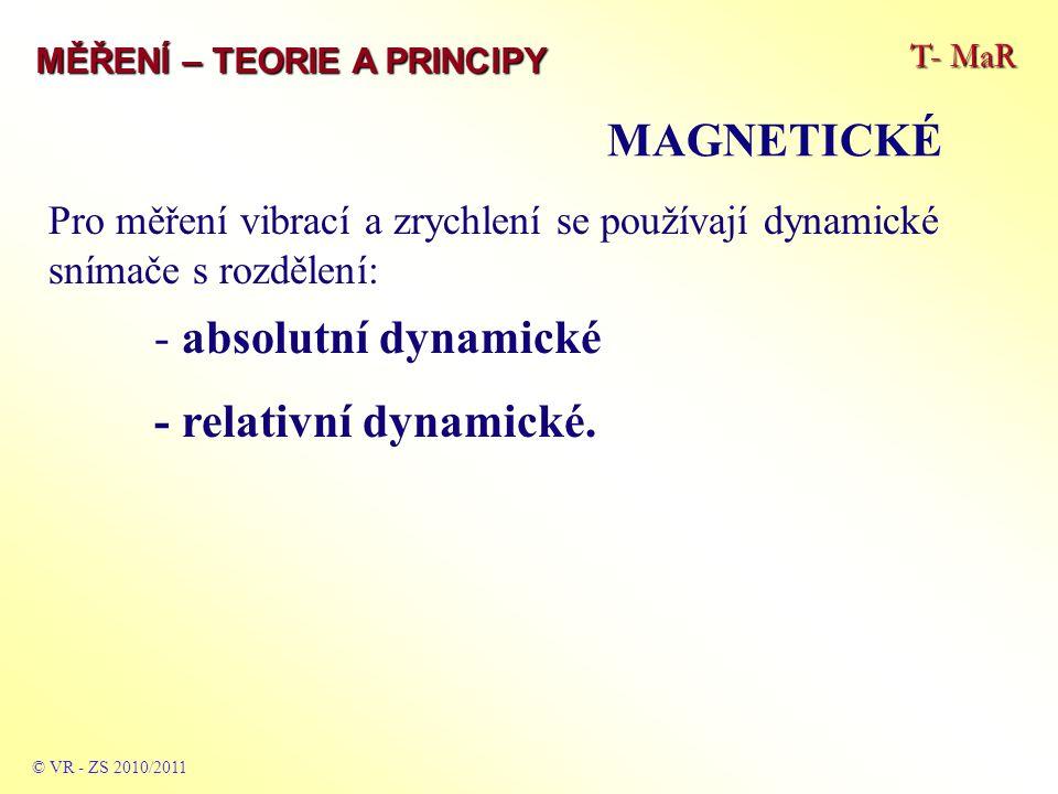 MAGNETICKÉ - relativní dynamické.