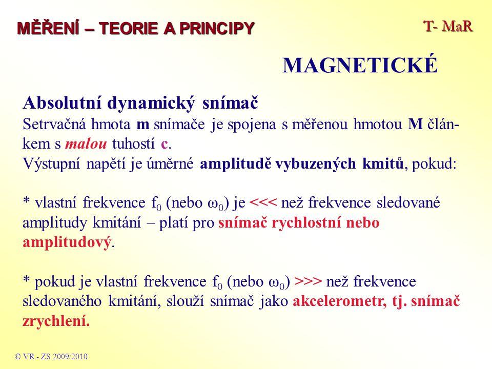 MAGNETICKÉ Absolutní dynamický snímač T- MaR