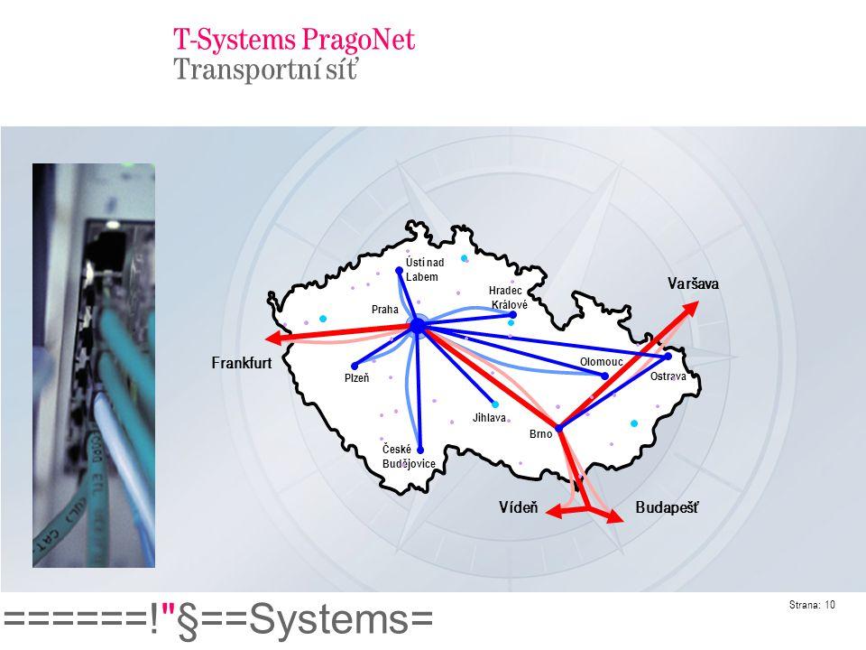 T-Systems PragoNet Transportní síť