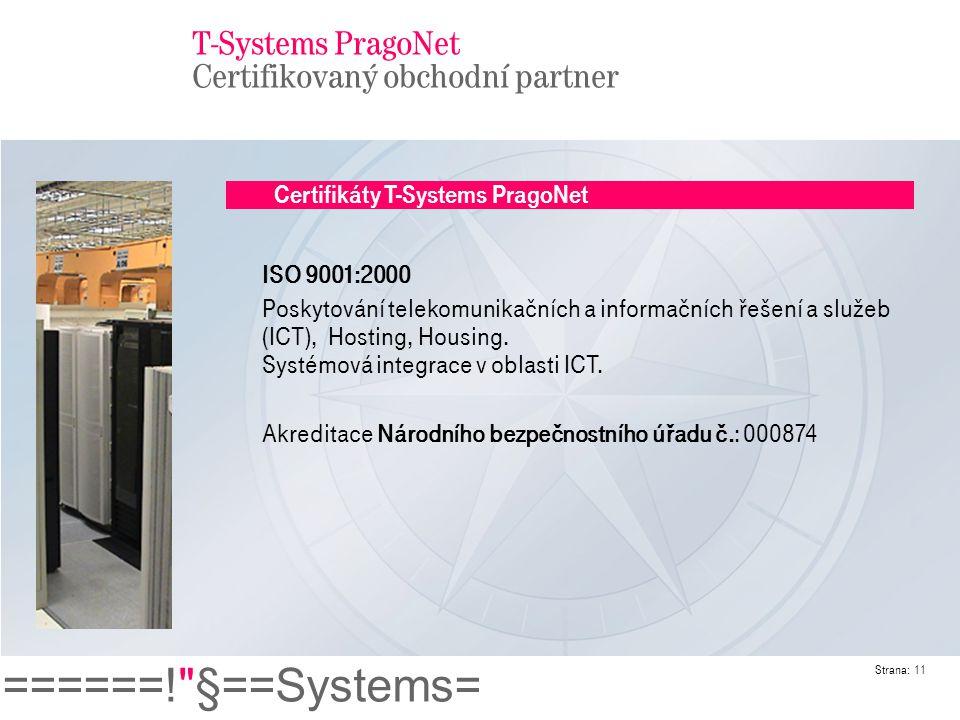 T-Systems PragoNet Certifikovaný obchodní partner