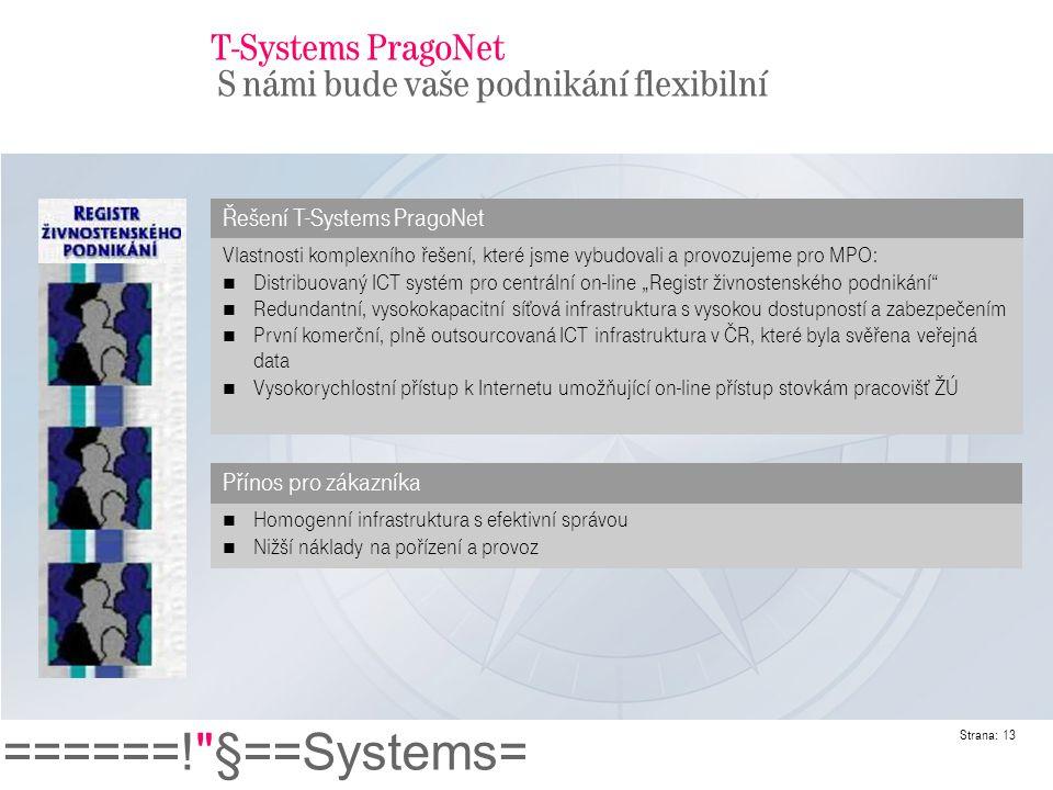 T-Systems PragoNet S námi bude vaše podnikání flexibilní