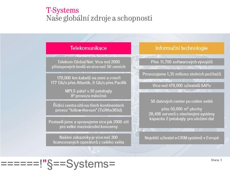 T-Systems Naše globální zdroje a schopnosti