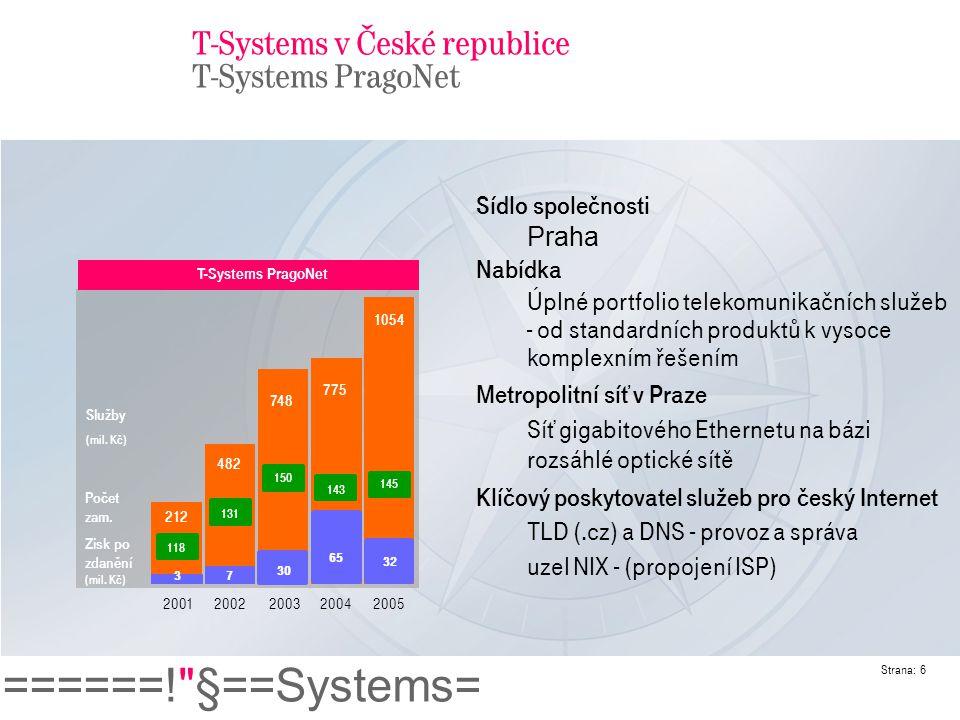 T-Systems v České republice T-Systems PragoNet
