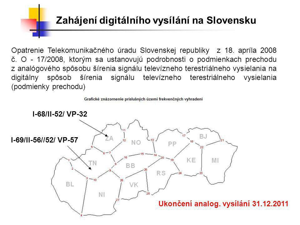 Ukončení analog. vysílání 31.12.2011