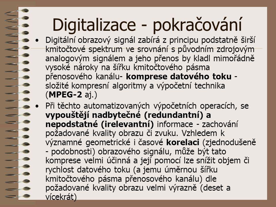 Digitalizace - pokračování