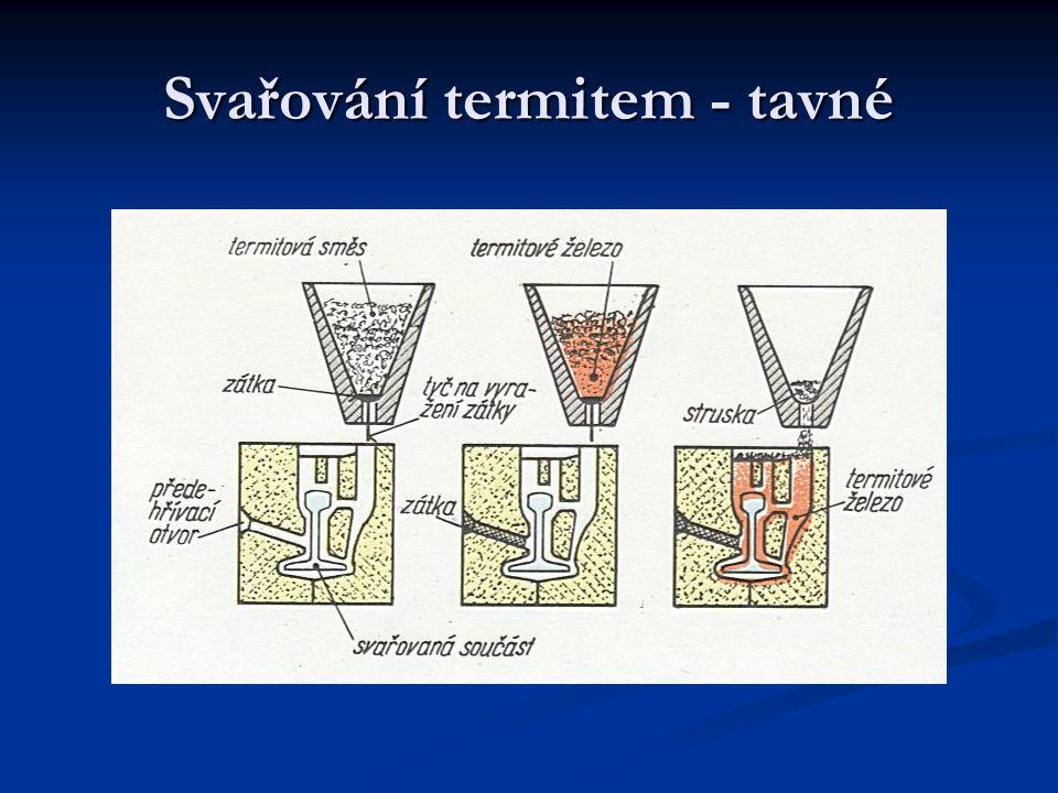 Svařování termitem - tavné