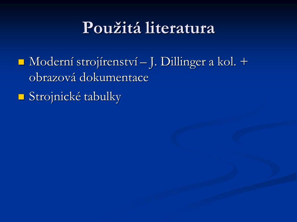Použitá literatura Moderní strojírenství – J. Dillinger a kol.