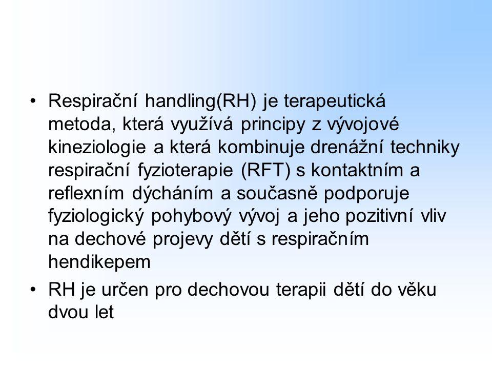 RH je určen pro dechovou terapii dětí do věku dvou let