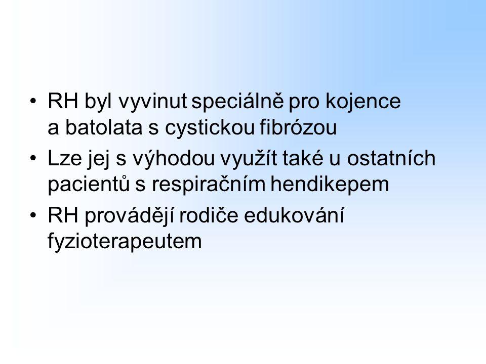 RH byl vyvinut speciálně pro kojence a batolata s cystickou fibrózou