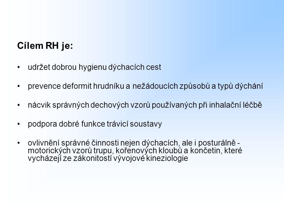 Cílem RH je: udržet dobrou hygienu dýchacích cest