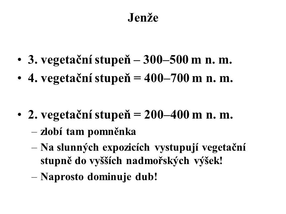 3. vegetační stupeň – 300–500 m n. m.