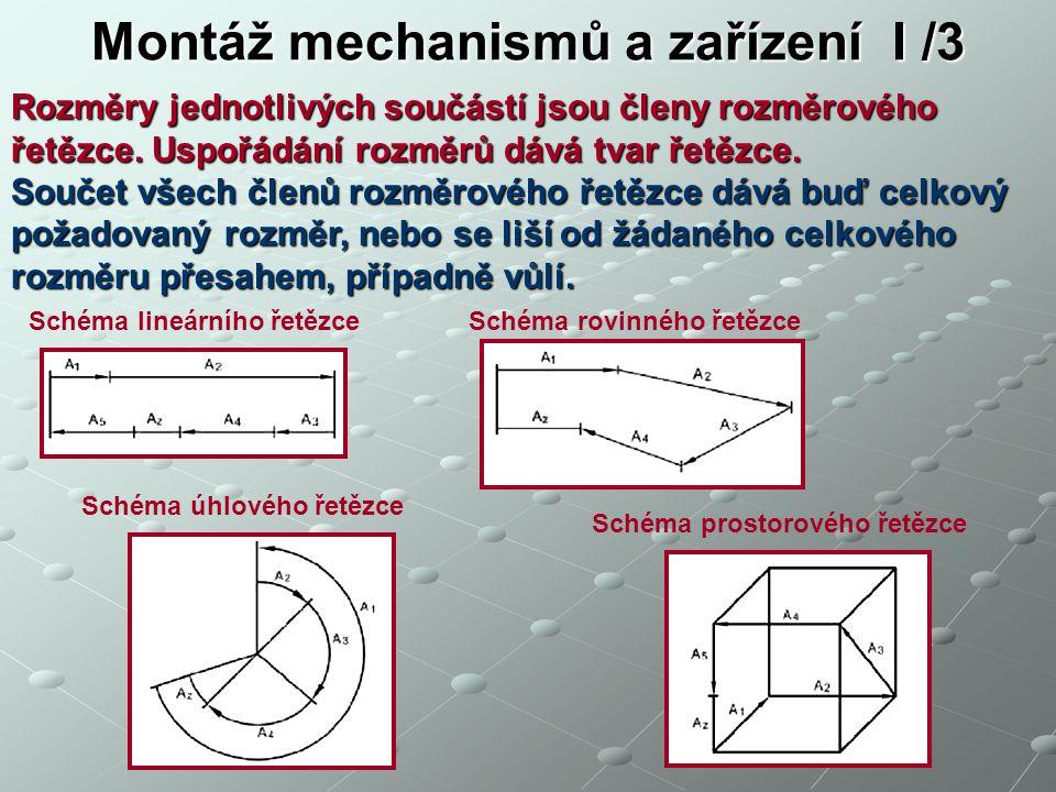 Montáž mechanismů a zařízení I /3