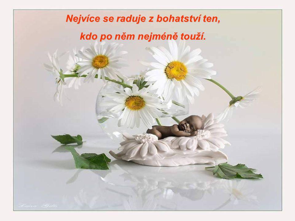 Nejvíce se raduje z bohatství ten, kdo po něm nejméně touží.