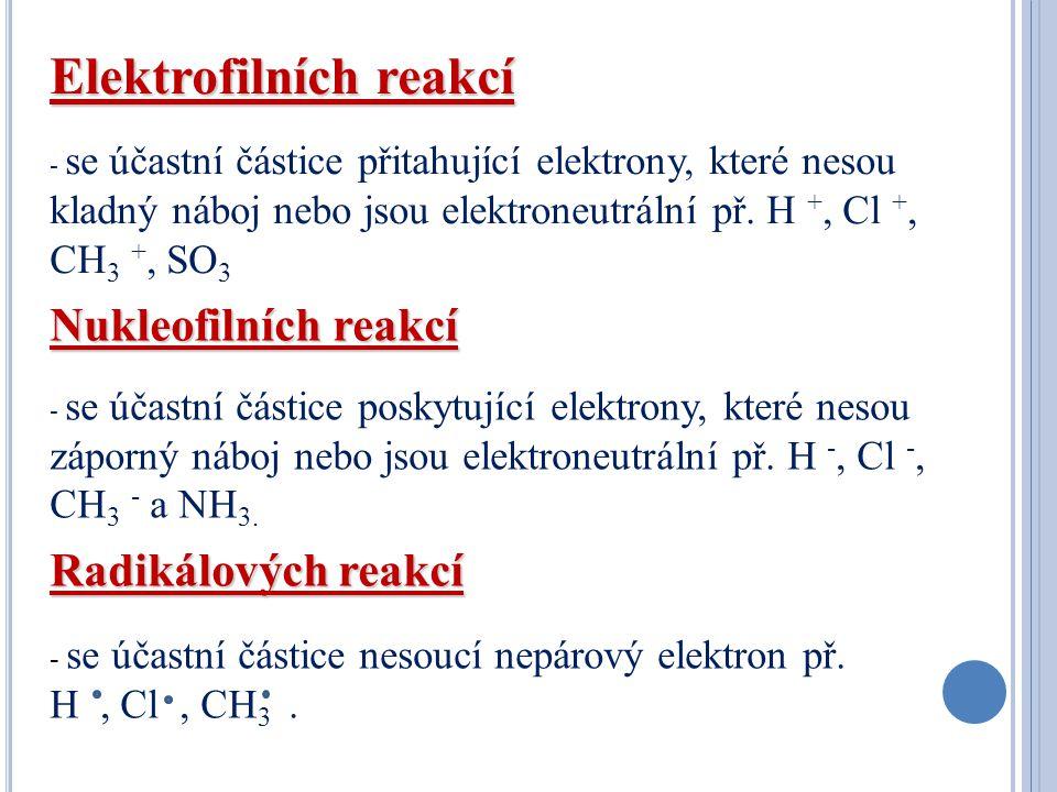 Elektrofilních reakcí