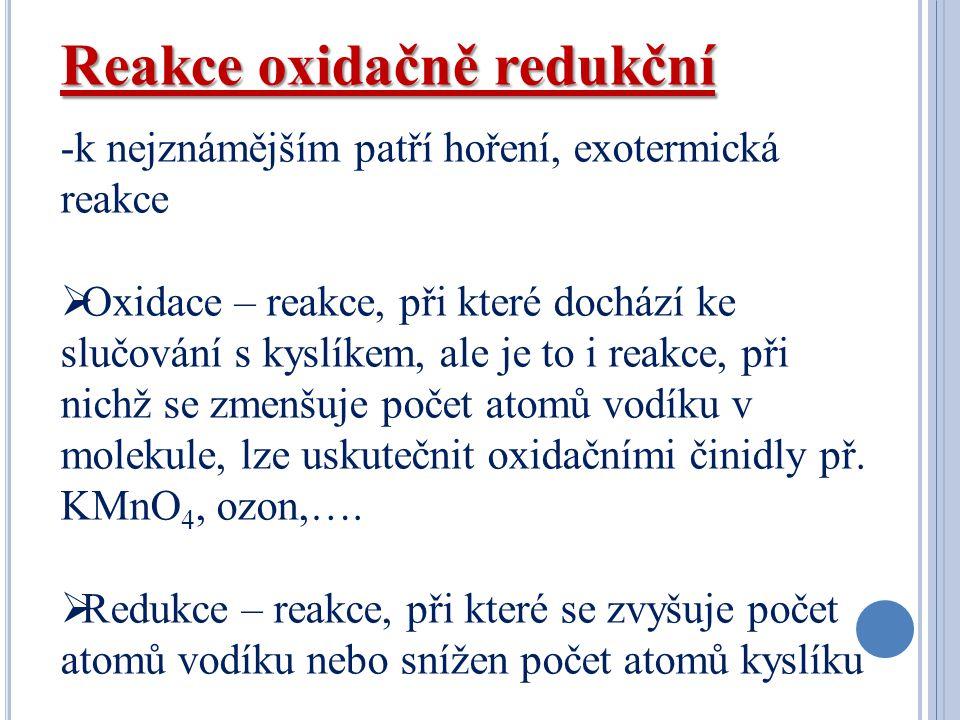Reakce oxidačně redukční