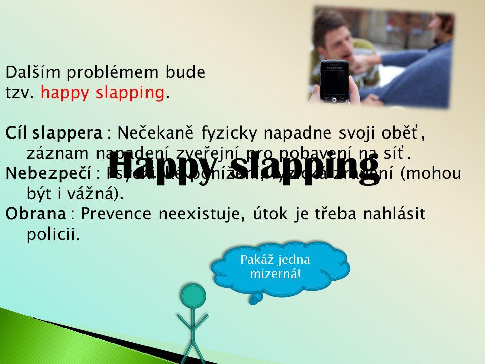 Happy slapping Dalším problémem bude tzv. happy slapping.