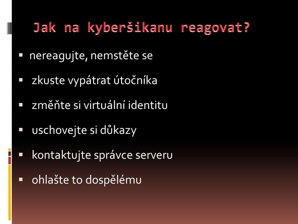 Jak na kyberšikanu reagovat