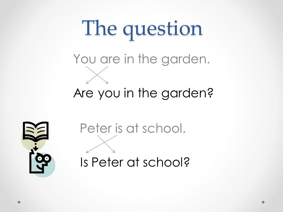 The question You are in the garden. Are you in the garden