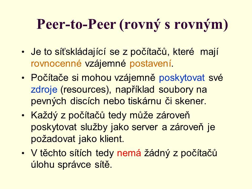 Peer-to-Peer (rovný s rovným)