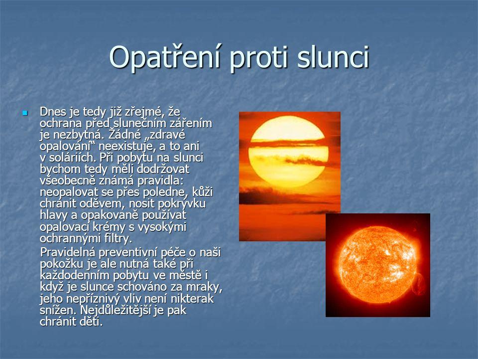 Opatření proti slunci