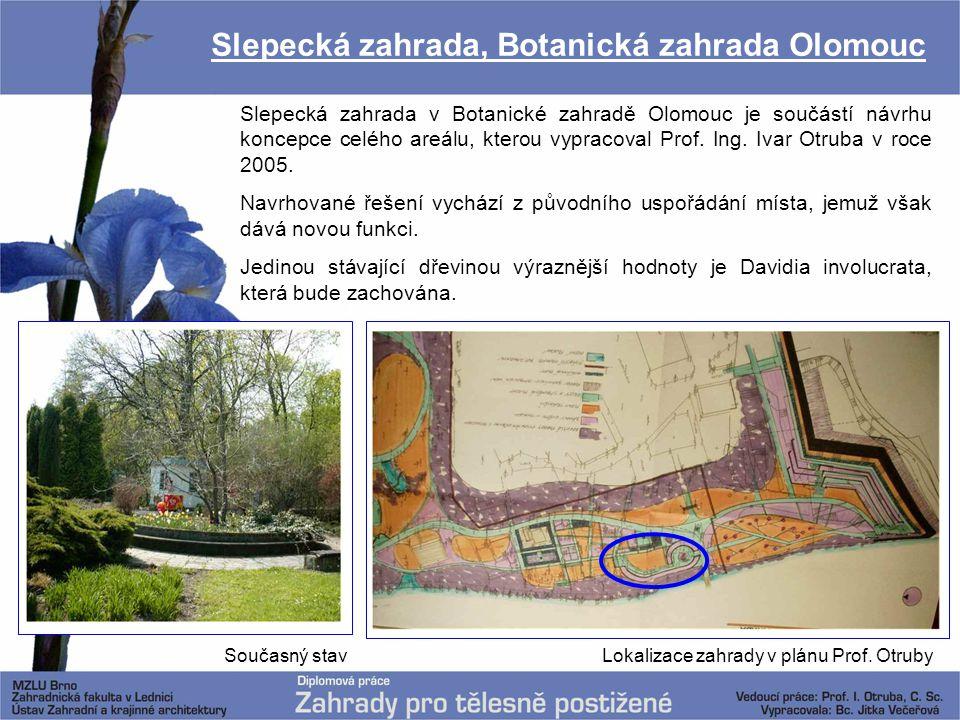 Slepecká zahrada, Botanická zahrada Olomouc