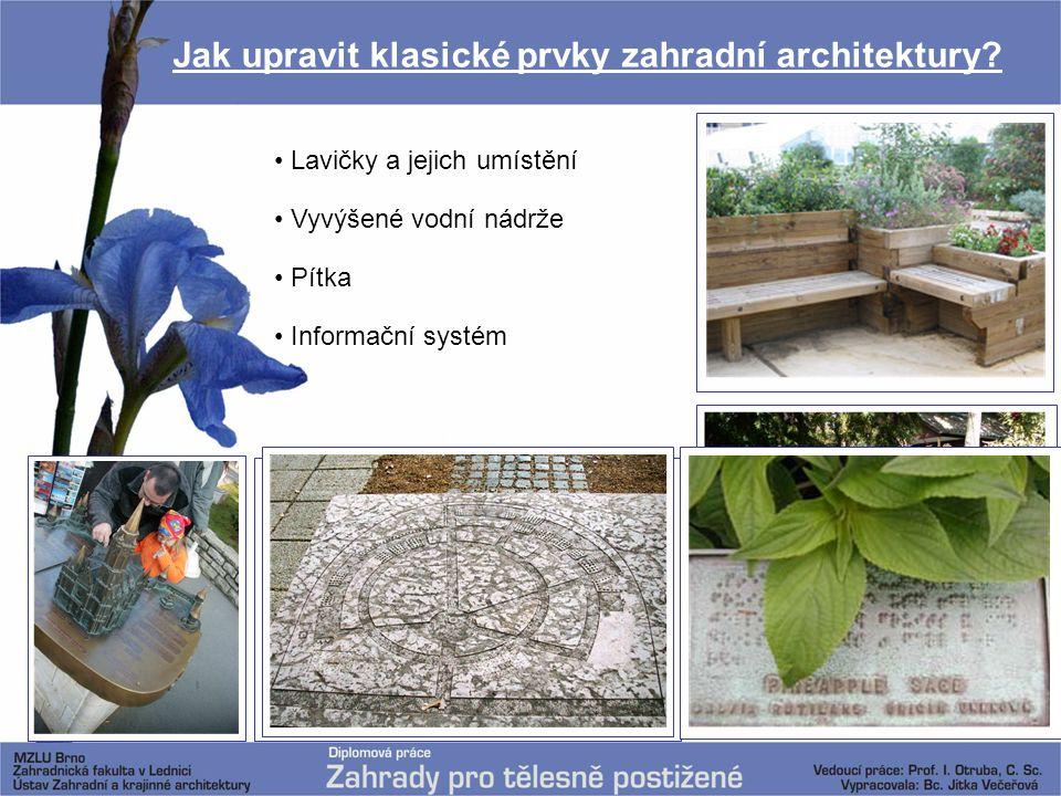 Jak upravit klasické prvky zahradní architektury